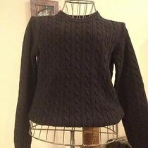 Tommy Hilger Black Cable Knit Sweater Ladies Size M Medium Photo