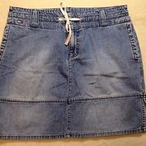 Tommy Jeans Denim Skirt Womens 9 Preowned Blue Nice Casual Dress Photo
