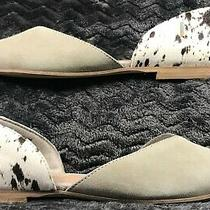 Toms 10015794 Taupe Suede & Cow Hair d'orsay Flats Pumps Size 7 1/2 Photo