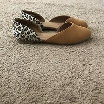 Toms Brown Suede and Denim Women's Julie d'orsay Flats Womens Size 8 Photo