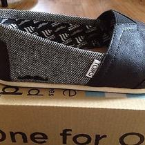 Toms Classic Casual Shoe Mustache Black and Gray Mens 8.5 Photo