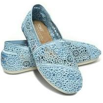 Toms Classic Light Blue Crochet Flats Photo