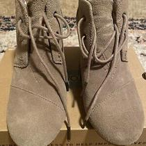 Toms Desert Wedge Women's Taupe Suede Ankle Booties...size 9 Orig 90 Photo