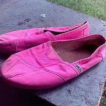 Toms Fuchsia Classic Slip on Flats Shoes Size 9w Photo