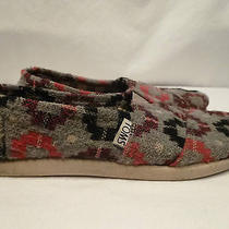 Toms Girl's Gray & Purple Shoes---13.5 Photo