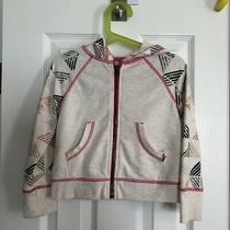 Toms Girls Size Xs Multi-Color Terry Zip Up Jacket W/ Hood X-Small 4/5 Euc Photo