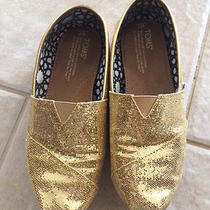 Toms Gold Glitter Shoes Photo