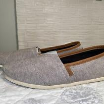 Toms Grey Chambray Cloudbound Alpargatas Slip on Shoes Men's 13 Photo