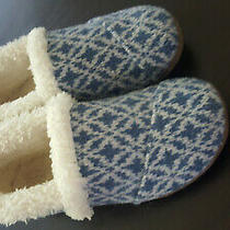 Toms House Slippers Fair Isle Blue Kids Toddler Size 2 Photo