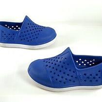 Toms Infant Toddler Slip on Shoes Romper Size 5 Blue/white Waterproof Swim Shoe Photo