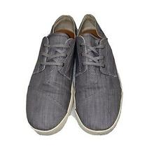 Toms Men's Paseo Sneaker Lace-Up Canvas Gray Shoes 10008089 Size 13 Gray Shoes Photo