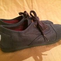 Toms Navy Blue Lace-Up Laced Shoes W 9.5 Photo