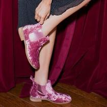 Toms Nwt Msrp 98 Ella Velvet Booties Women's Size 7.5 Faded Rose Velvet Photo