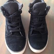 Toms Shoes Camilla High Top Sneakers 7.5 Black/ Textile Cute Photo