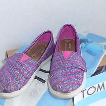Toms T8 Toddler Kids Pink/purple Splash Adorable Shoesw/ Box/cotton Bag/sticker Photo