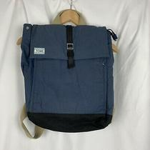 Toms Trekker Backpack Utility Wax Canvas Blue Backpack Padded Tech Pockets Nwot Photo