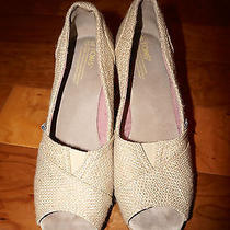 Toms Wedge biege9.5100%Authenticgently Broken Inso Trendy Photo