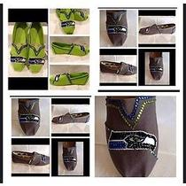 Toms Womans Classic Ash Canvas Shoe  Seattle Seahawks Custom Shoes Photo