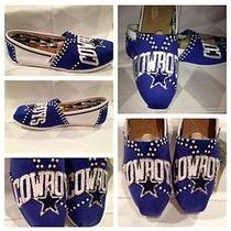 Toms Womans Classic Blue Canvas Shoe  Dallas Cowboys  Custom Shoes Photo
