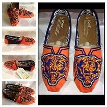 Toms Womans Classic Orange Canvas Shoe  Chicago Bears Custom Shoes Photo