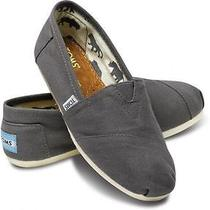 Toms Women's Classics Shoes Ash Canvas Flats Slip-on Brand New Sz 7.5 Photo