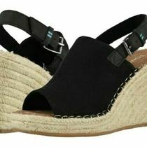 Toms Women's Oxford Monica Wedges Black Size 9 Photo