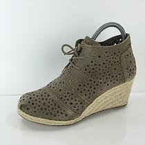Toms Women's Stone Beige Wedges 9.5 Photo