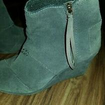 Toms Womens Gray Booties Size 8  Photo