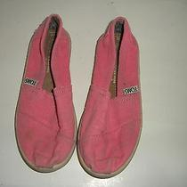 Toms Youth Classic Youth Girls Size 12y Pink Canvas Sneakers Shoes Play Photo