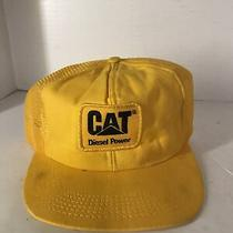 Tonkin Vtg Cat Patch Diesel Power Trucker Mesh Cap Snapback Hat Usa Photo
