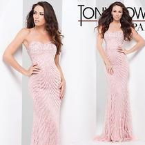 Tony Bowls 115706 Prom Dress Pageant Gown Formal Occasion Size 4 Blush Photo