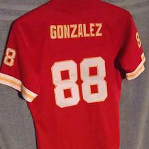 Tony Gonzalez Kansas City Chiefs 88 Red Replica Game Jerseyboys Size Medium Photo