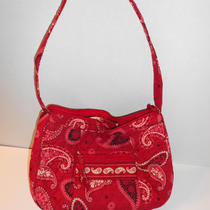 Too Cute  Vera Bradley  Mesa Red  Hobo Style Purse /  Handbag Retired  Photo