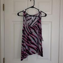 Top Candidates-Kensie Asymmetrical Zebra Fancy Tank Top Photo
