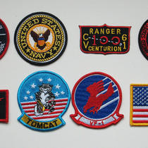Top Gun 8 Costume Patch Set - 80s Movie Fancy Dress Photo