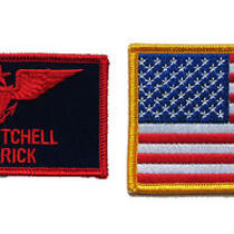 Top Gun Costume 2 Patch Set- Movie Fancy Dress Photo