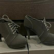 Top Moda Loma Oxford Ankle Bootie With Laces in Black Size 6 Photo