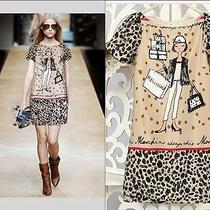 Top New Love Moschino Women's Vogue Stylish Leopard Short Sleeve Dresses Szlarg Photo