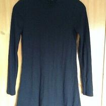 Top Shop Black Fit and Flare Ribbed Dress Uk Women's Size 8 Good Condition  Photo