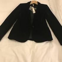 Top Shop Black Velvet Blazer Tux Size 10 Photo