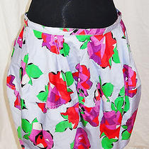 Top Shop Trendy Bubble Mini Skirt U.s12 Uk 16 Eu44 12 Floral Bottom Rare Unique  Photo