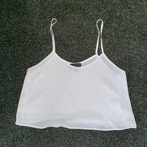 Top Shop White Cropped Vest Size 6 Photo