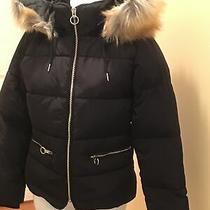 Top Shop Womens Hooded Winter Puffer Coat Black Size 6 Nnt Photo