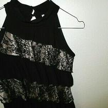 Topstudio Y-Black Blush-Lace-High Neck-Knit -Size Xs C44 Photo