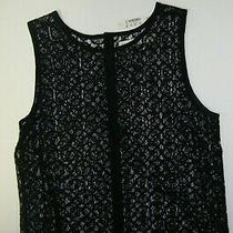 Top Women's Madewell  Large Black Lace Blouse Tank Tee Shirt    Size   Nwt   Photo