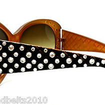 Topaz Clear Crystal Rhinestone Sunglasses Using Swarovski Elements Crystals  Photo