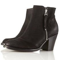 Topshop 'Ambush Side Zip Boots' Black Leather Pistols Ankle Short Boot 40 10 Photo