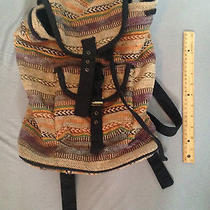 Topshop Aztec Stripe Backpack Unused With Broken Buckle  Photo