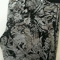 Topshop Black and White Comic Book Print Joggers  Photo