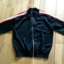 Topshop Black Bomber Sweat Jacket Size  6 Photo
